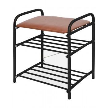 Банкетка-этажерка для обуви Ника Б1 (медный антик-коричневый)