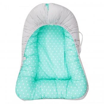 Гнездышко-кокон для новорожденных Fun Ecotex FE29910 (мятный, розовый)
