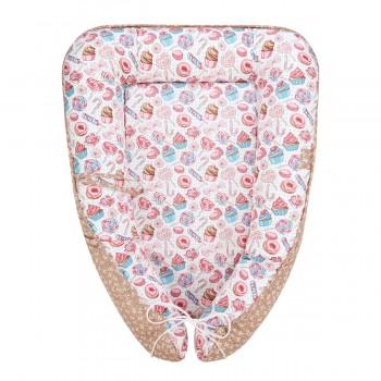 Гнездышко-кокон для новорожденных Конфетка Fun Ecotex FE29914