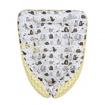 Гнездышко-кокон для новорожденных Котики Fun Ecotex FE29915