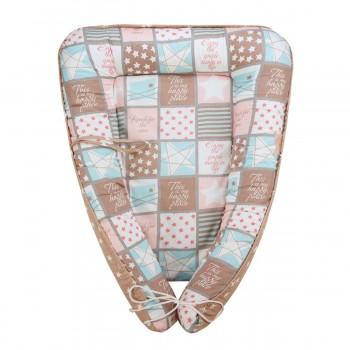 Гнездышко-кокон для новорожденных Звездная мозайка Fun Ecotex FE29916