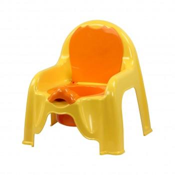 Детский горшок-стульчик желтый