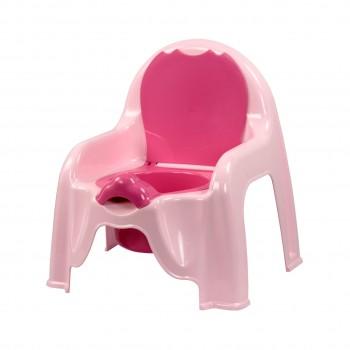 Детский горшок-стульчик розовый