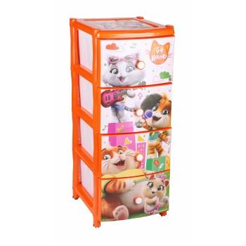 Комод детский пластиковый 44 котёнка №2