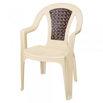 Кресло пластиковое Tropic ротанг 379 Эльфпласт