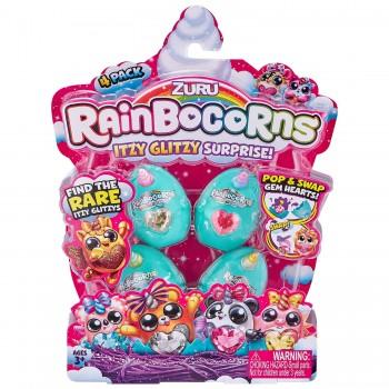 Коллекционная фигурка в яйце Rainbocorns Itzy Glitzy Surprise 4 шт
